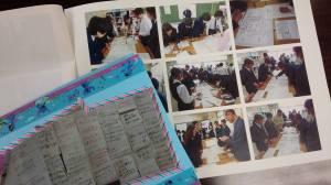 平楽中学校メッセージカード